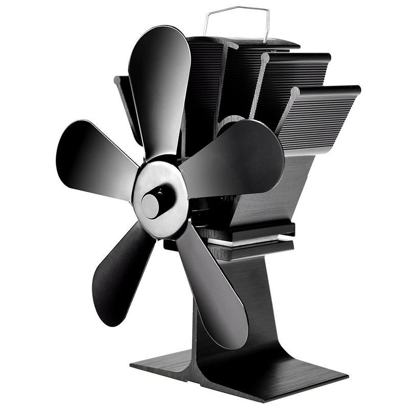 Fireplace 5 Blade Heat Powered Stove Fan Komin Log Wood Burner Eco Friendly Quiet Fan Efficient Heat Distribution Christmas Gift