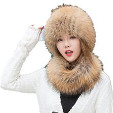 Futro naturalne kapelusz dla kobiet prawdziwe futro z lisa czapka z zestaw szalików biały czarny oryginalne srebrne lisa futrzane czapki szaliki zimowe ciepłe capH249 tanie tanio Szalik Kapelusz i rękawiczki zestawy 60cm WOMEN 15cm Moda 0 3kg Stałe Dla dorosłych