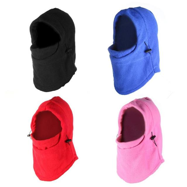 Cycling Face Mask Fleece Hat Hooded Neck Warmer Face Mask Windproof Masked Cap for Winter Sport Riding