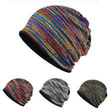 Ha lavorato a maglia di Velluto Equitazione Arcobaleno Cappello Caldo Copricapo Sci Impiallacciatura Multi-color Cap Outdoor Per Gli Sport All'aria Aperta Casco di Riciclaggio di Sci cappello