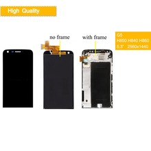 10Pcs/lot Original Display For LG G5 LCD Touch Screen with Frame H840 H850 H860 H830 H820 VS987 for