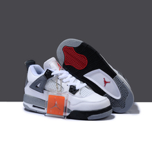 0e31a4a15392 Jordan Retro 4 White Cement Men And Women Basketball Shoes Breathable Men s  Outdoor Sports Sneakers Size