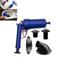 Hot Air Power Drain Blaster gun High Pressure Powerful Manual sink Plunger Opener cleaner pump for Toilets showers for bathroom(China)