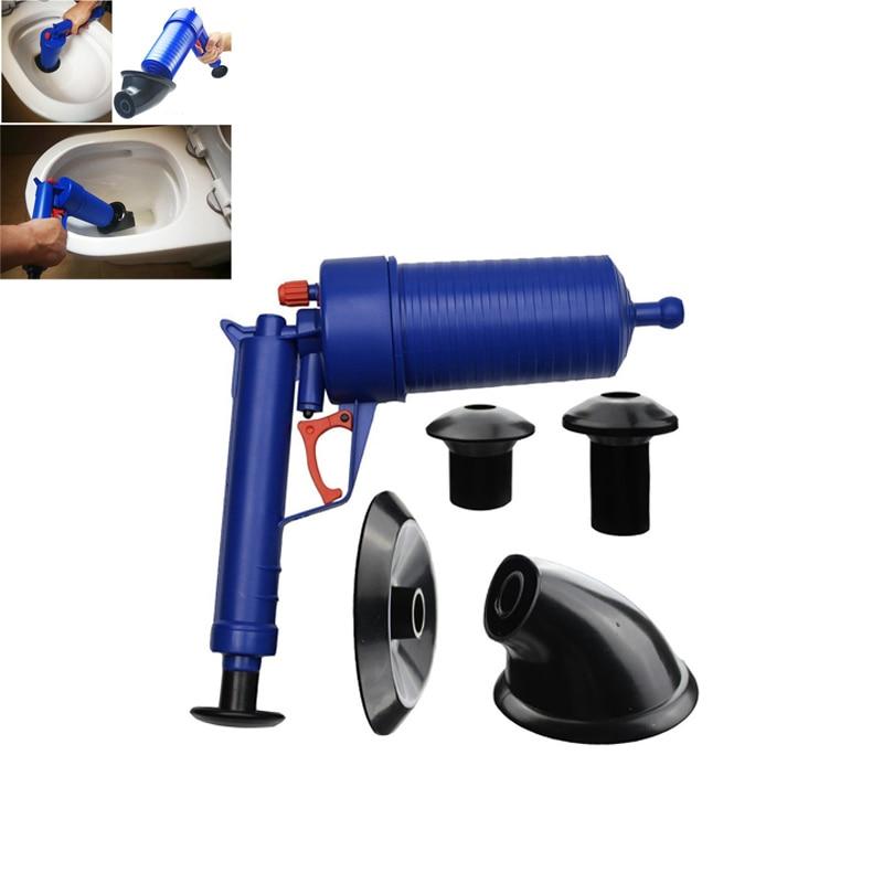 Hot Air Power Drain Blaster gun High Pressure Powerful Manual sink Plunger Opener cleaner pump for Toilets showers for bathroom