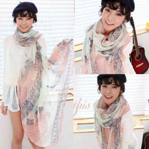 2019 las nuevas mujeres de cuello largo grande bufanda chal Pashmina robó bufanda de gasa de otoño