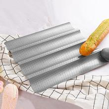 2/3/4 Slot Non-Stick Perforated French Bread Pan Baguette Mold Wave Bakeware Stainless Steel Baking Tools Kitchen Accessaries