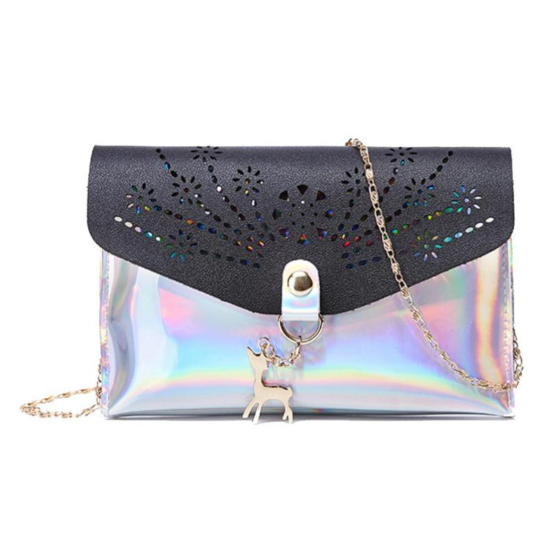 New Crossbody Bag For Girls Hollowed Lasers Shoulder Handbags Women Chain Small Deer Crossbody Bag Bolso Femenino Clutch Bags Complete In Specifications Shoulder Bags Luggage & Bags