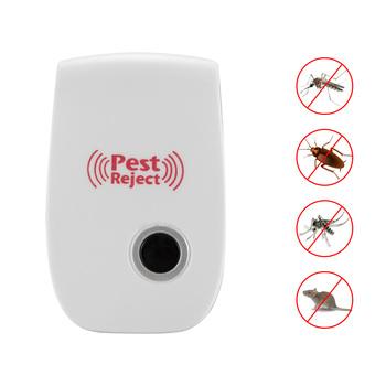 Ultradźwiękowy odstraszacz szkodników elektroniczny środek odstraszający owady zabójca przeciw komarom odstraszający owady odrzucający Dropshipping tanie i dobre opinie ABEDOE Karaluchy Komary Myszy 100-240 v Ultrasonic Pest Repellers