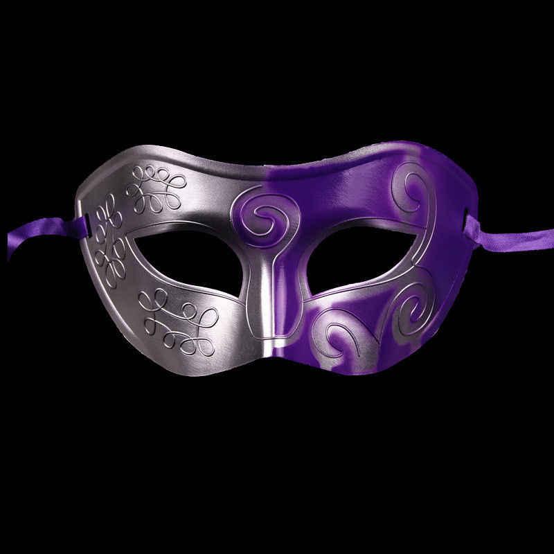 2018 Vintage plata oro hombre antiguo gladiador carnaval mascarada bola fiesta máscaras Cool Retro hombres fiesta máscaras