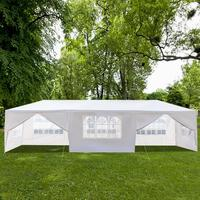3x9m Waterproof White Large Parking Shed Wedding Party Outdoor Camping Tent Garden Courtyard Awning Anti UV Sun Shelter