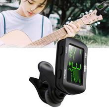 цены 20Pcs Guitar Tuner Rotatable Clip-on Tuner LCD Display Digital with Foldable High Sensitivity Rotary Clamp Multifunctional Tuner
