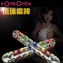 Double Headed Crystal Glass Dildo Magic Wand Fake Penis Anal Butt Plug Female Masturbation Gay Sex Toy Massage Stick for WomenO3