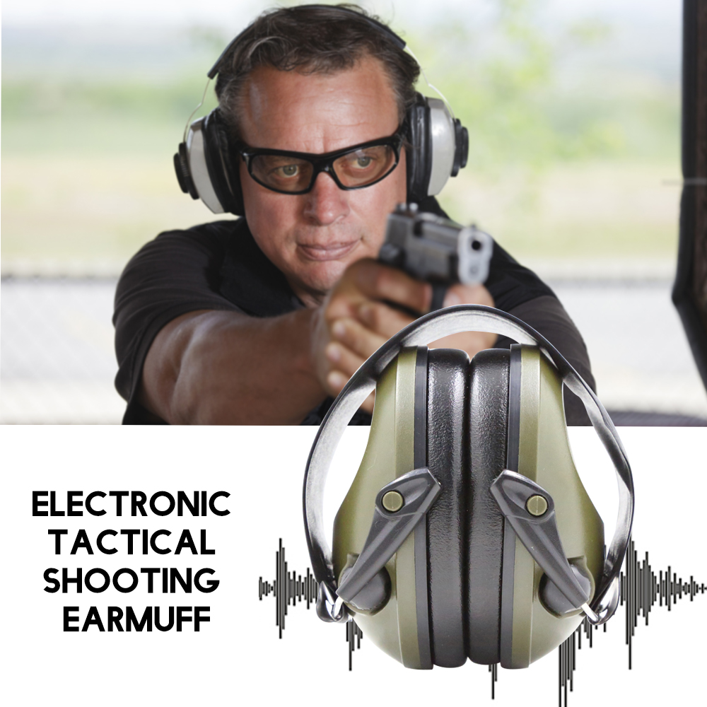 Tactical Shooting Earmuff Headset Ear-Protector Earplugs Anti-Noise Noise-Canceling Electronic title=