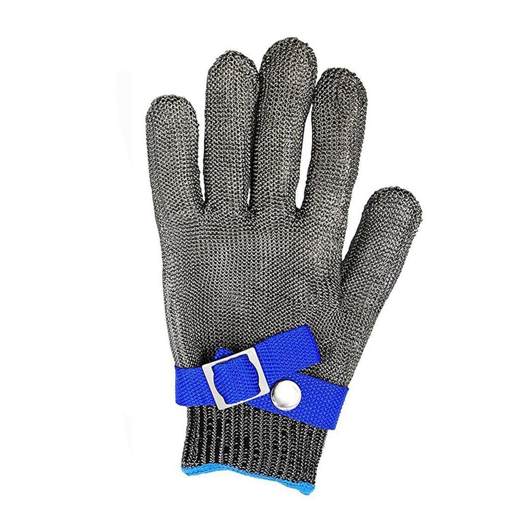 Work Gloves Steel Stainless with Flexible Wrist Strap Safety Gloves Working Protective GlovesWork Gloves Steel Stainless with Flexible Wrist Strap Safety Gloves Working Protective Gloves