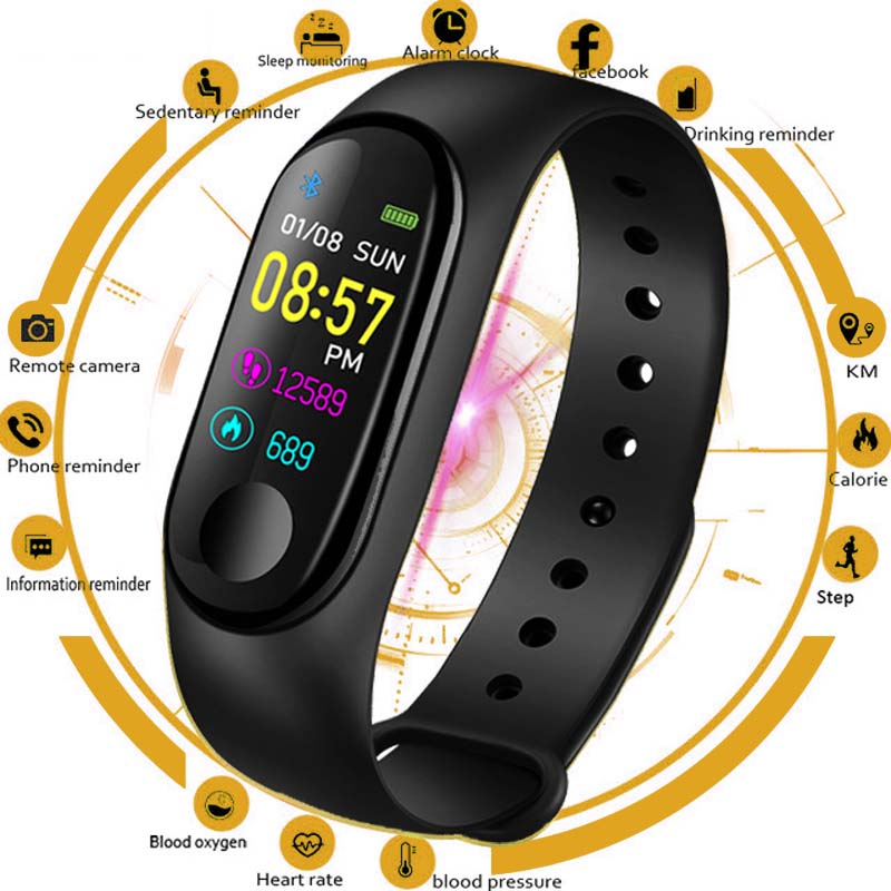 Brand Women Smart Watch Men Heart Rate Blood Pressure Oxygen Sleep Monitor Pedometer Fitness Sport Watches For Men Android IOS