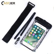 6.2 Universal IPX8 Waterproof Phone Bag , CASEIER Case For iPhone 8 X Samsung S8 S9 Plus Bags Accessories