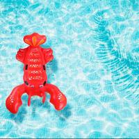Funny Swimming Toys Inflatable Kids Adult Swimming Pad Lobster shaped Pool Float Air Mattresses Kids Outdoor Water Fun Play Toys