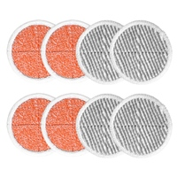 8 Pack Spin Mop Pads Replacement For Bissell Spinwave 2124, 2039, 2037 Series Powered Hard Floor Mop