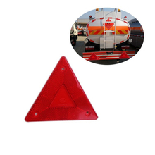 1 Pieces Triangle Warning Reflector Stop Sign Reflective Safety Board Truck Plate Red Rear Light 18507