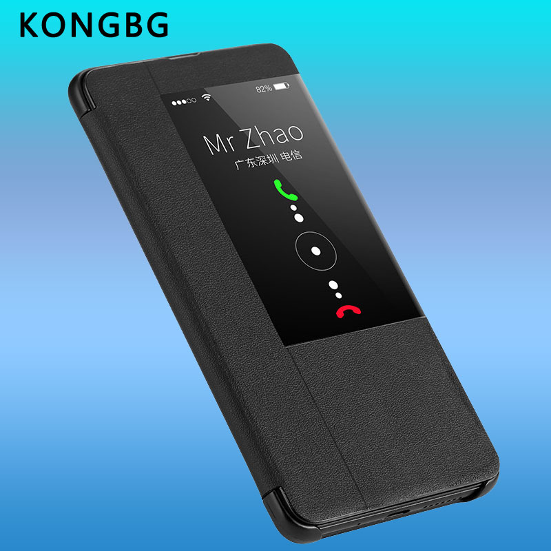 KONGBG Luxury Flip Case For Huawei Mate 20 Pro Leather Smart View Flip Cover 360 Full Cover For Huawei Mate20 Mate 20 Cases