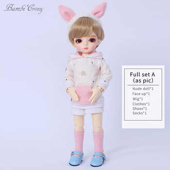 BambiCrony Vanilla Fullset BJD SD Dolls YoSD Littlefee Luts 1/6 Resin Figures Ball Joint Toys Wig Shoes Clothes Free Eyes