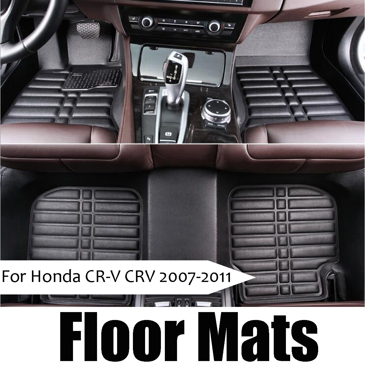 3pcs Black Leather Waterproof Car Floor Mats Liner Fly5D For Honda CRV 2011 2012 2013 2014 2015 2016 2017 Auto Accessories3pcs Black Leather Waterproof Car Floor Mats Liner Fly5D For Honda CRV 2011 2012 2013 2014 2015 2016 2017 Auto Accessories