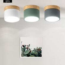 Superficie montata HA CONDOTTO il downlight 7W dimmerabile COB bianco/grigio/verde guscio in alluminio lampada da soffitto decorazione mobili AC110 240V