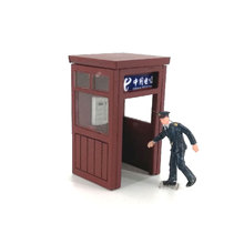 купить HO 1:87 Scale Train Model Railway Peripheral Telephone Booth For Architectural Scene Sand Table дешево