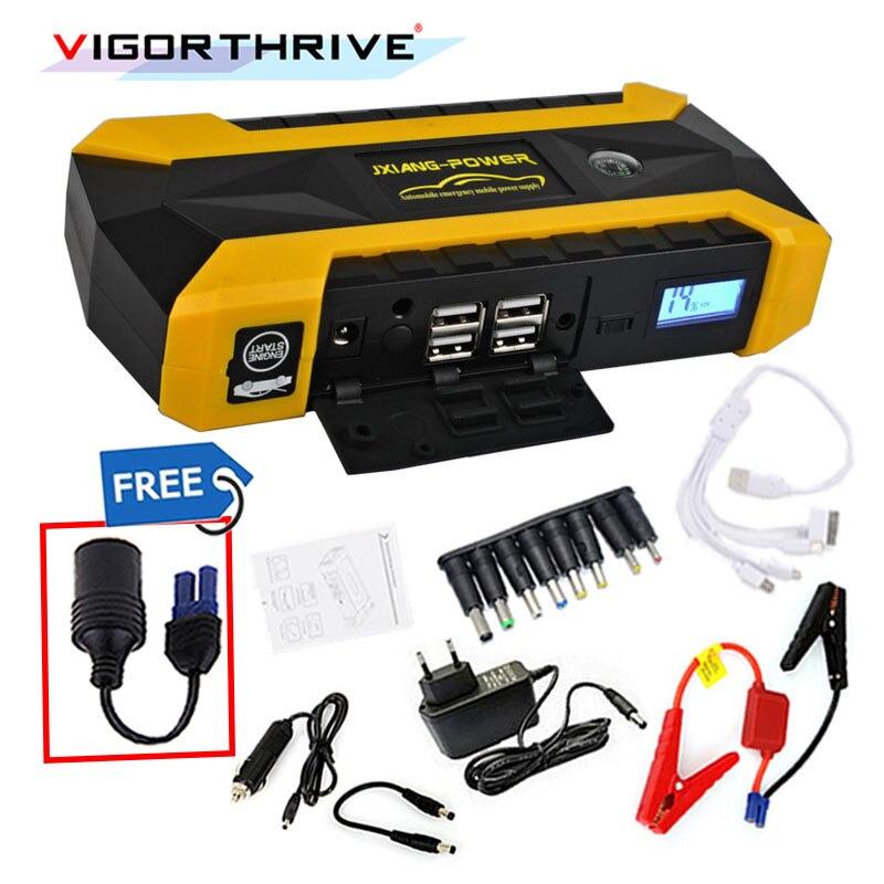 12 V batterie externe décharge d'urgence batterie Booster Mini chargeur de secours voiture saut démarreur pour essence voiture essence démarrage dispositif