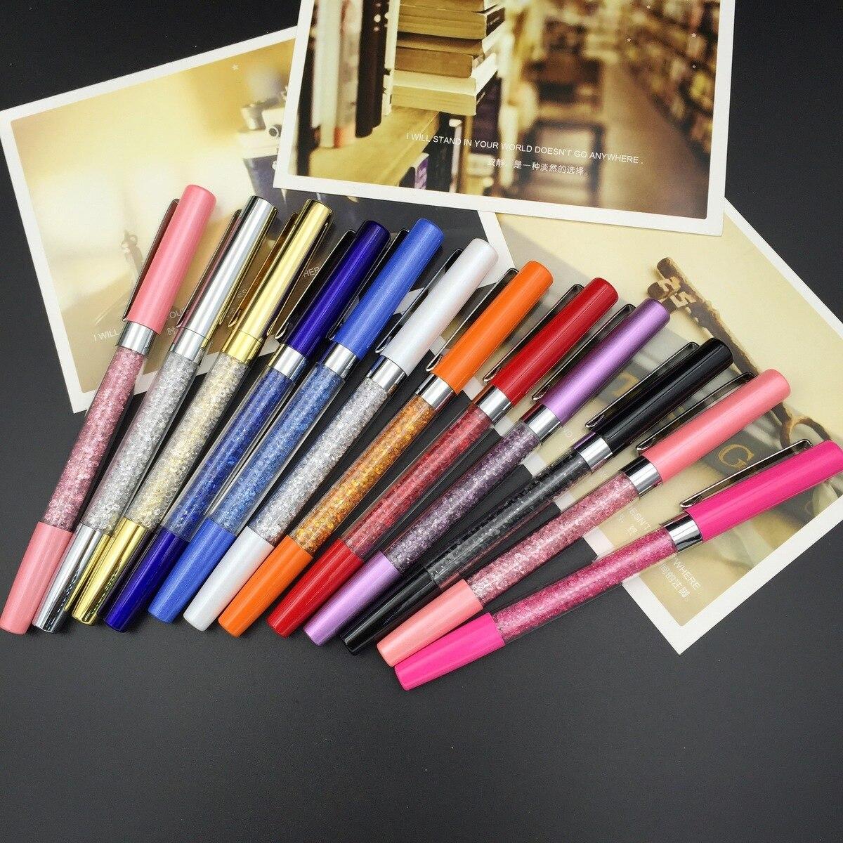 все цены на 100pcs/set New Crystal Diamond Pen Metal Pen Color Can Be Customized Crystal Pen онлайн