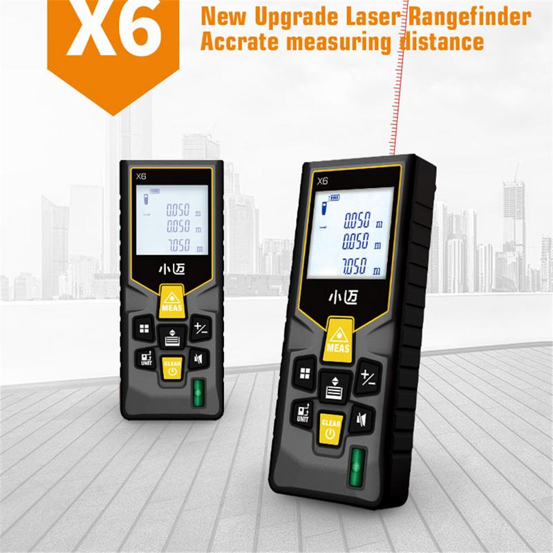 40M Handheld Range Finder Rechargeable Voice Broadcast High Precision Infrared Measuring Room Electronic Infrared Ray Ruler
