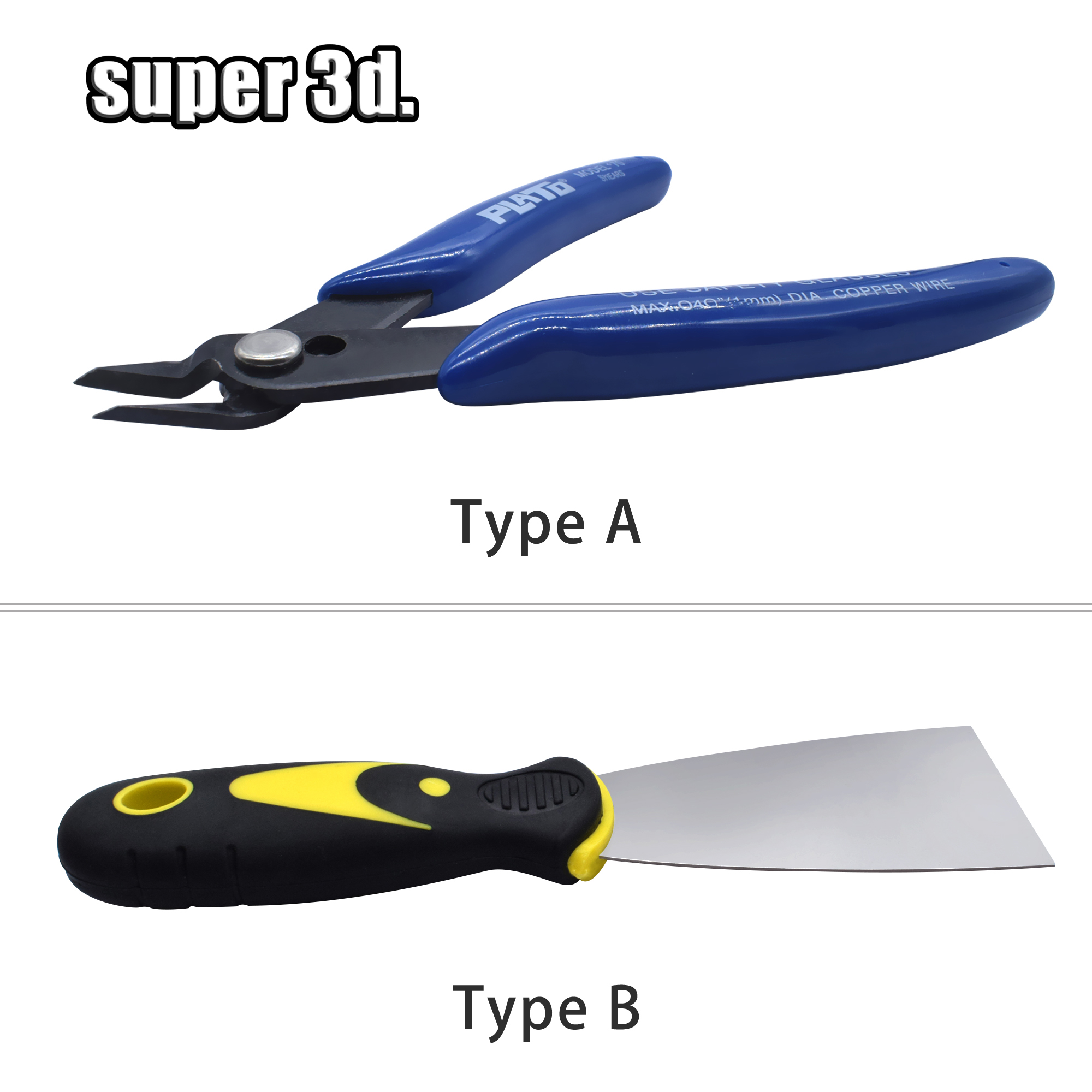 1PCS 3D Printer Accessories Removal Spatula Steel Pliers Electrical Wire Cable  Cutting Side Snips Nipper Hand Tweezers Tools