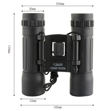 Professional 12X30 1000M Sports Optics Binocular High Magnification Telescope Spotting Scope For Birdwatching Hunting Hiking