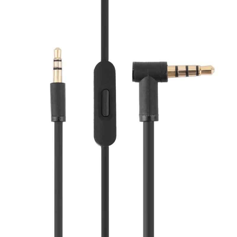 4.5FT 3,5 мм аудио кабель под прямым углом Мужской автомобильный Aux шнур с микрофоном для Beats высококачественные наушники аудио кабель продвижение