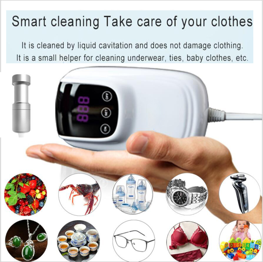 Mini Ultrasonic Cleaner Pocket Laundry Washing Machine Clothes Washer Travel Vegetable Fruit Jewelry Ultrasound Clean Bath