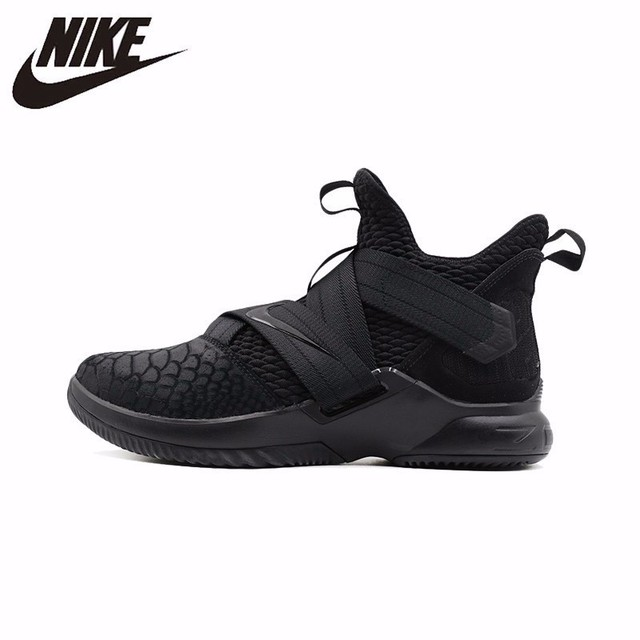 bc04ad4884fa NIKE Lebron Soldier 12 Original New Men s Basketball Shoes High Cut  Sneakers Wear Resistant Breathable Shoes