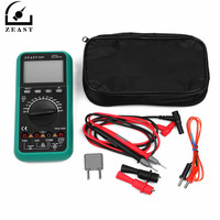 ZEAST VC97 3 3/4 Digital Multimeter Voltmeter AC/DC Capacitor Frequency Tester Meter Electric Leads Instruments LCD Probe