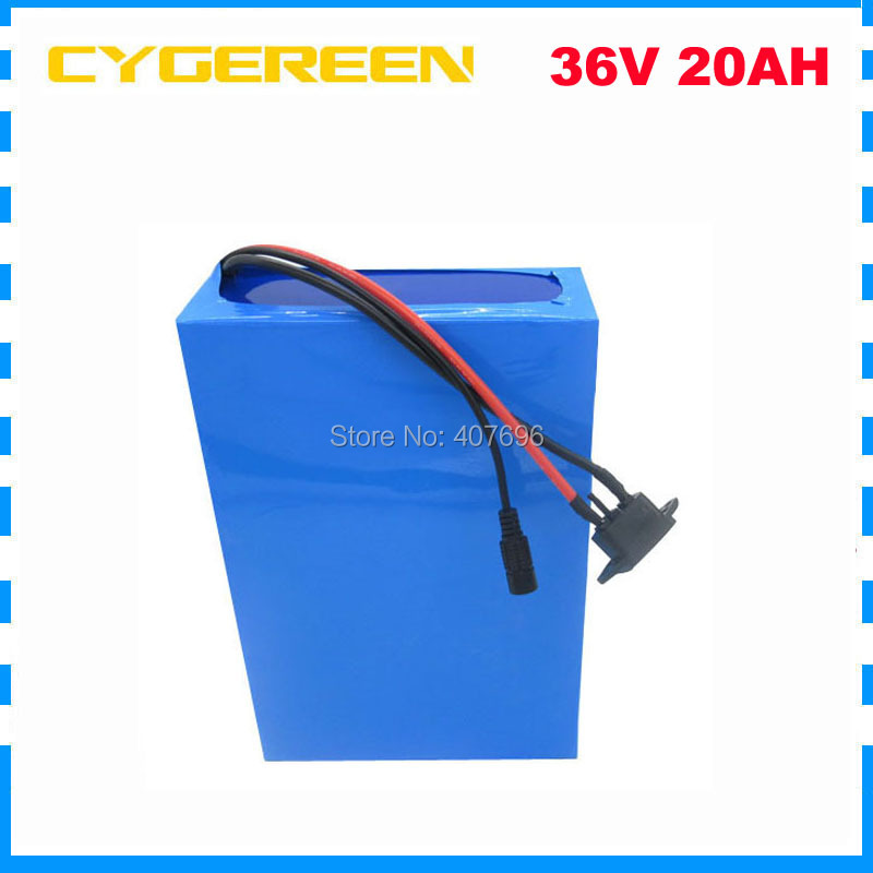 Hot sale 36V Lithium ion battery 36V 20AH Electric Bike battery 36 V 20ah 1000W Scooter Battery with 30A BMS 42V 2A charger