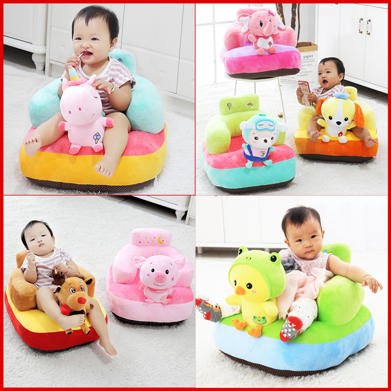 New Cute Soft Unicorn Baby Seat Animal Plush Toys Infant Back Support Learning Sit Safety Baby