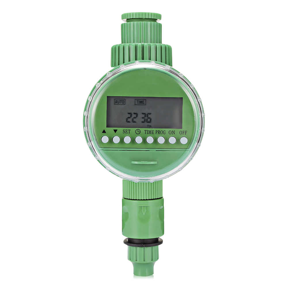 Cerdas Otomatis Penyiraman Timer Irigasi Controller dengan Layar LCD Logam Plastik Taman Air Irigasi Timer Outdoor