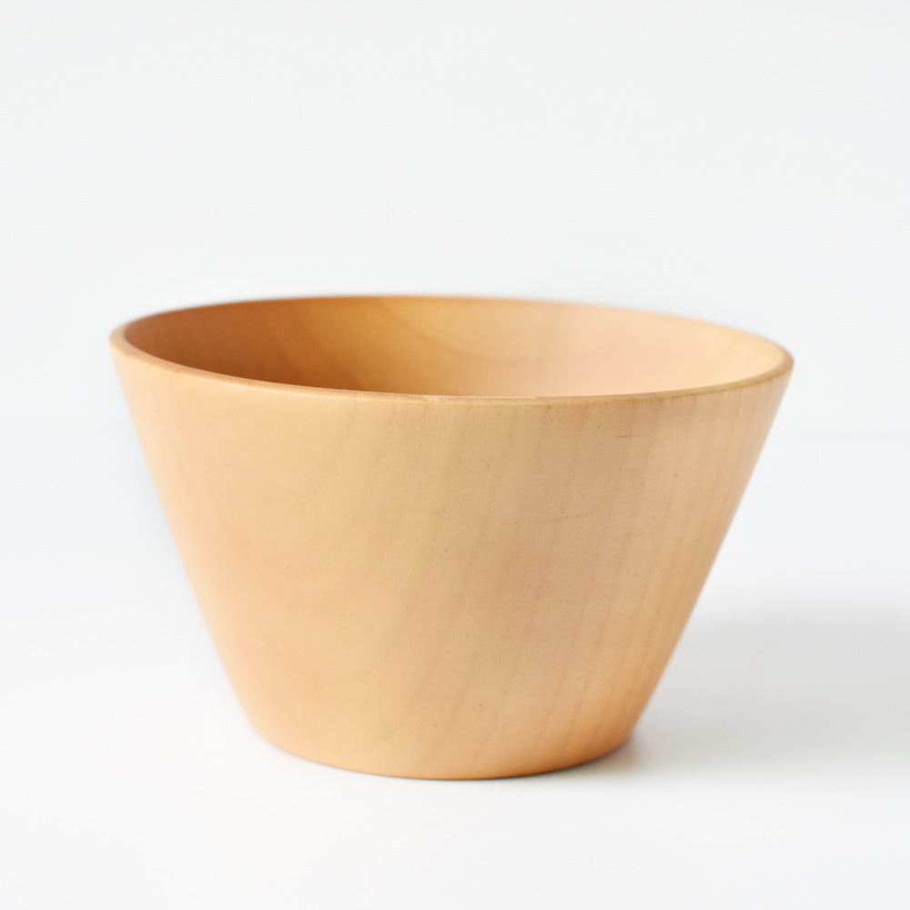 Chinese Nature Bamboo Wood Bowl Round Dining Noodles Rice Food Container Bowls