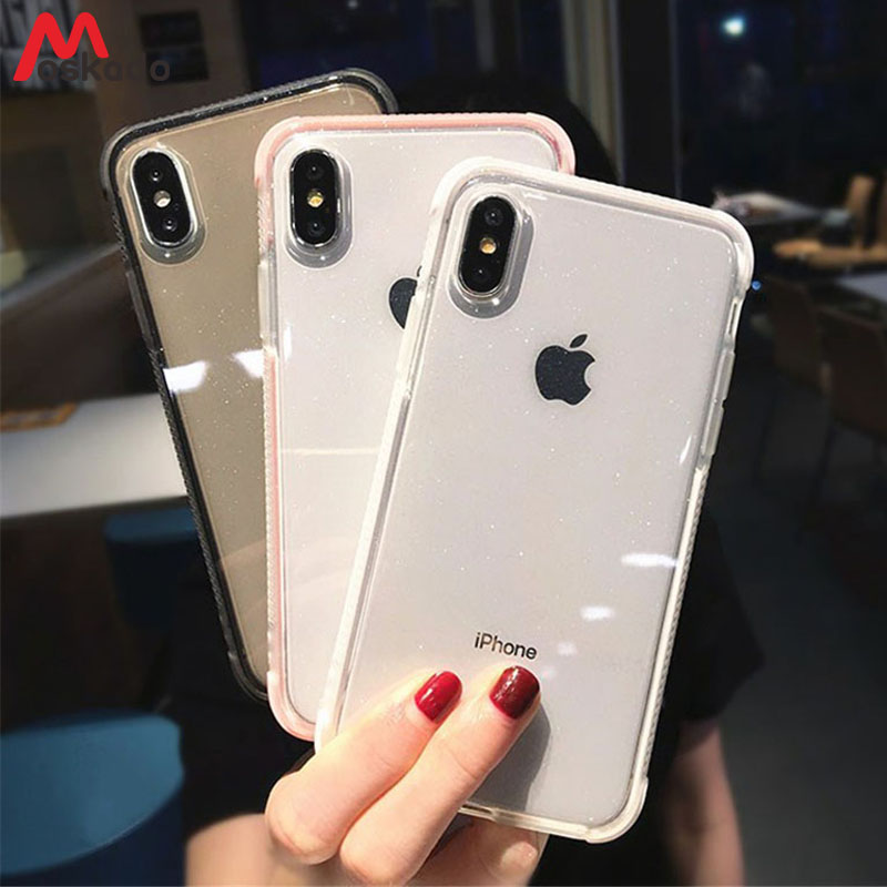Motivated Moskado Phone Case For Iphone 6 6s 7 8 Plus X Xr Xs Max Fashion Glitter Powder Clear Soft Tpu Luxury Shiny Shockproof Cover Capa Phone Bags & Cases Cellphones & Telecommunications