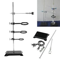Lab Stand Clamp 61cm Laboratory Stands Support Table Base Lift Bracket Flask Condenser Laboratory Ring Clamp Clip Holder