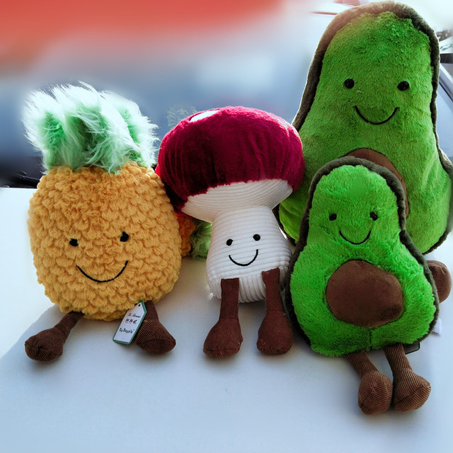 New plant plush toy Avocado doll mushroom pineapple doll plant children gift toy