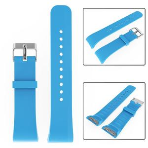 Image 3 - シリコーンソフトバンド 21 センチメートル大型交換スマート腕時計ストラップ通気性ブレスレットアクセサリーサムスンギア Fit2