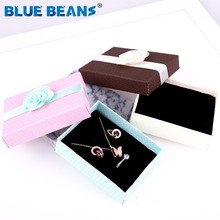 Gift Boxes Square jewelry organizer shape box Engagement Ring For Earrings Necklace Bracelet Display Holder rose flower new gold