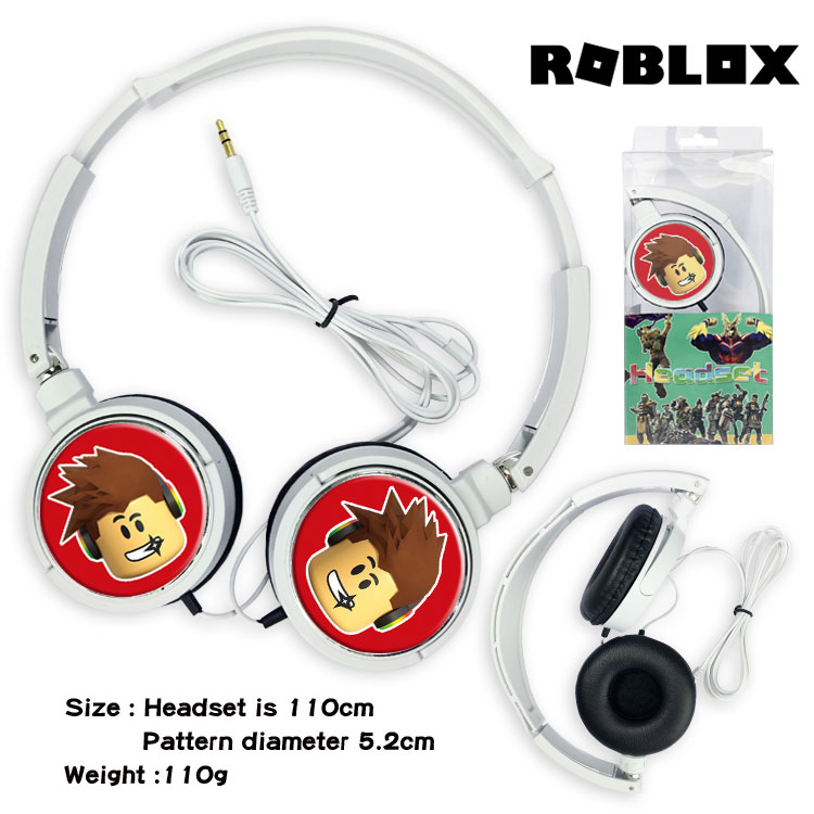 Mp3 To Roblox Sound Roblox - Giancomic Roblox Game Figure Wired Headphones Gaming Over