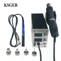 Ksger STM32 Oled T12 Temperatuur 2 In 1 Alle In Een Heteluchtpistolen Droger Digitale Hoge-Eng Rework soldeerstation Iron 9501 Handvat