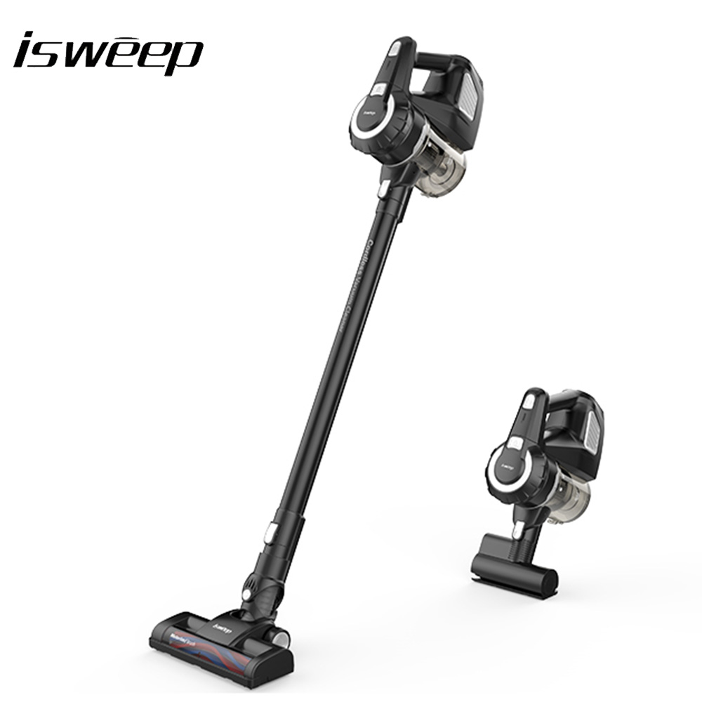 isweep a18 2 in 1 wireless vacuum cleaner high suction cyclone cordless handheld vacuum cleaner. Black Bedroom Furniture Sets. Home Design Ideas