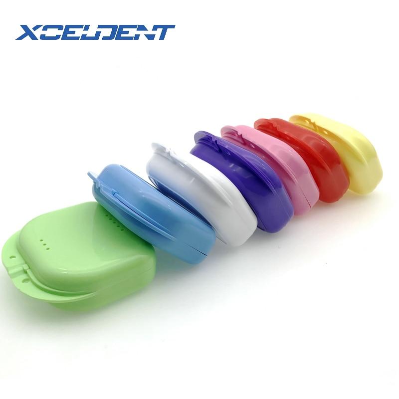 1 Pc Falsche Zähne Box Lagerung Fall Dental Retainer Hosenträger Mundschutz Prothese Air Loch Lagerung Fall Box 7 Farbe